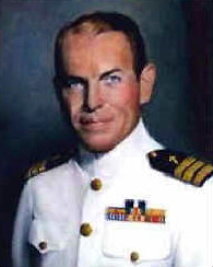 Painting of CDR George Rentz, USN, CHC