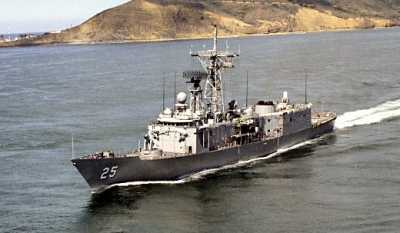 USS COPELAND (FFG-25) Underway at Pt Loma
