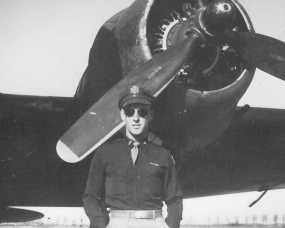 Jim Helinger, Sr in front of a C-47